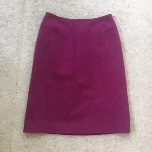 Ann Taylor Wool Pencil Skirt sz 0